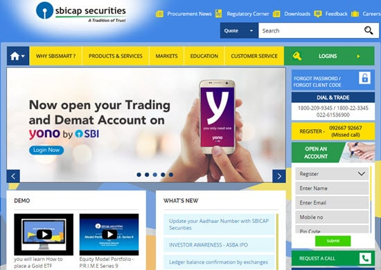 SBICap Demat and Trading Account in India