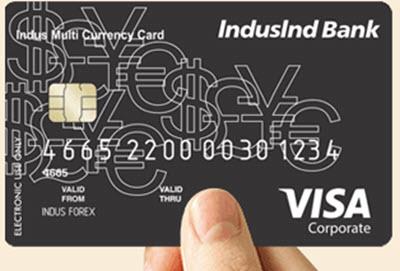 IndusInd Bank Forex Card