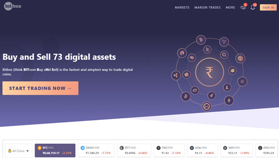 Bitbns Indian Cryptocurrency Exchange