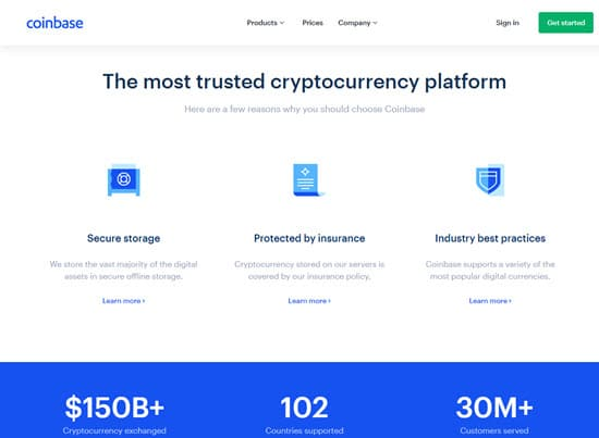 Coinbase Crypto currency Exchange