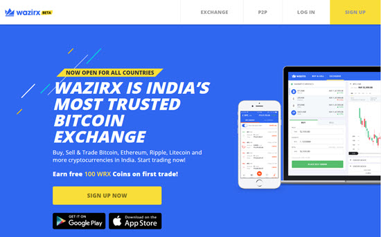 Wazirx Cryptocurrency Exchange India