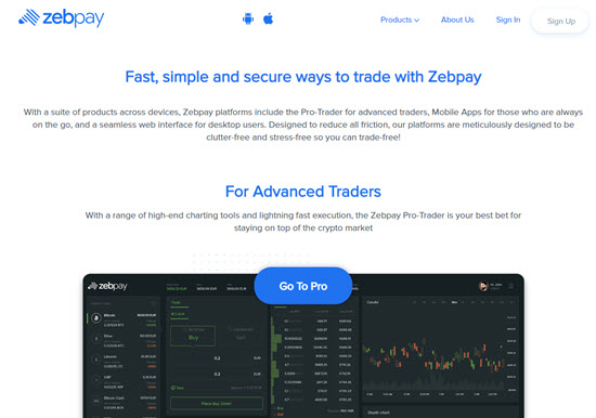 Zebpay Cryptocurrency Exchange