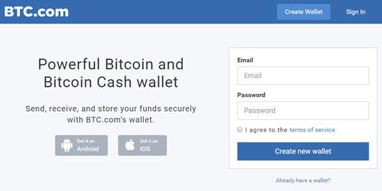 BTC Bitcoin Web Wallet